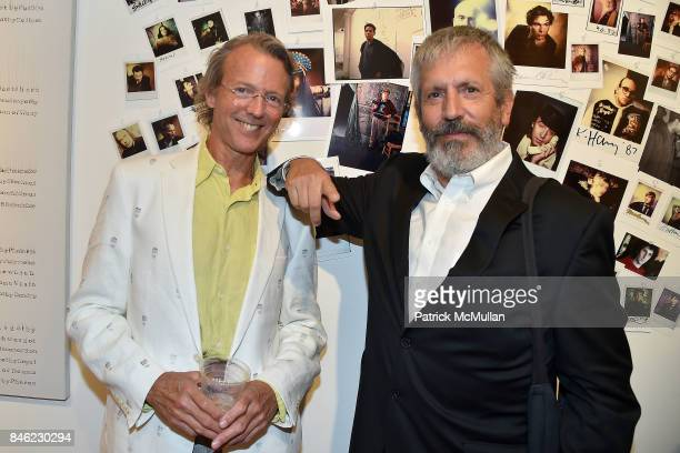 Jeff Carpenter and Mark Sink attend Love Among the Ruins A Short History of 56 Bleecker Gallery and Late 80s New York Exhibition Opening at Some...