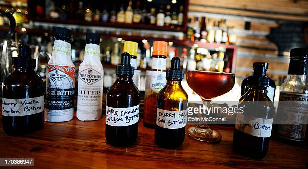 Jeff Carrollbar manager of The Country General on Queen st west makes a drink called Toronto s best Manhattan with bitters on December 13th 2012 in...