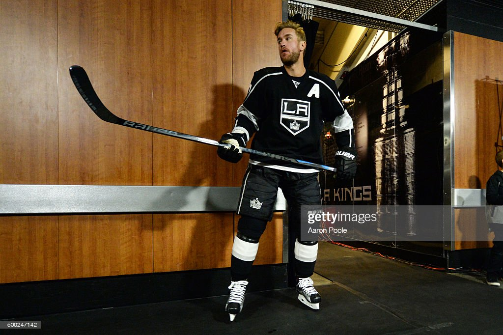 Jeff Carter #77 of the Los Angeles Kings looks on before a game against the Vancouver Canucks at STAPLES Center on December 01, 2015 in Los Angeles, California.