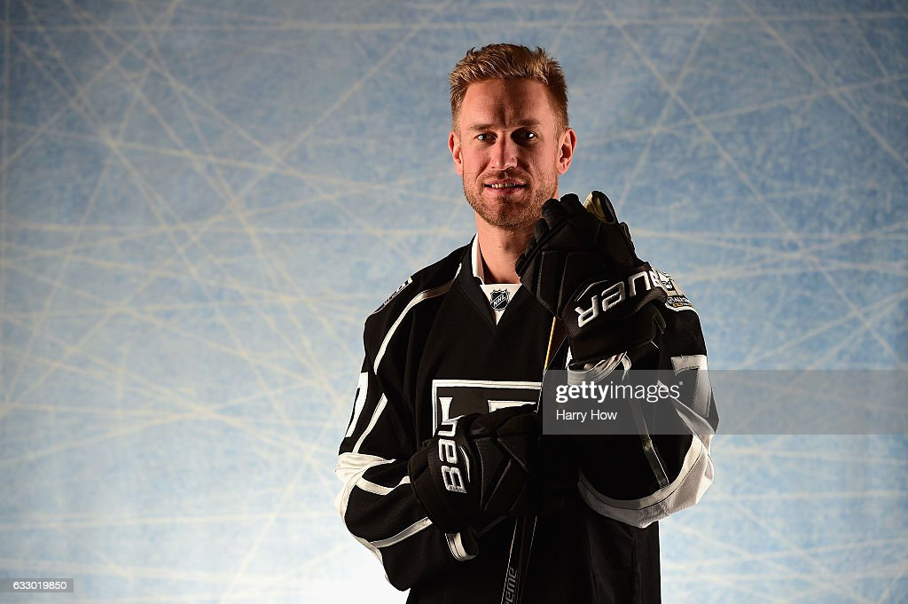Jeff Carter #77 of the Los Angeles Kings poses for a portrait prior to the 2017 Honda NHL All-Star Game at Staples Center on January 29, 2017 in Los Angeles, California.