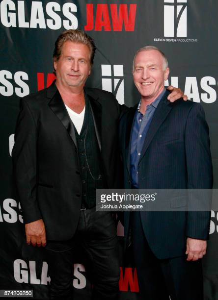 Jeff Celentano and Mark Rolston at the premiere of 'Glass Jaw' at Universal Studios Hollywood on November 9 2017 in Universal City California