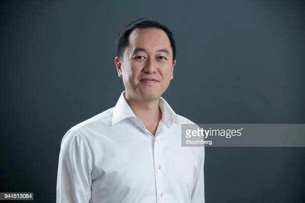 Jeff Chen chief strategy officer of WeDoctor Group poses for a photograph during the Bloomberg Invest Asia conference in Hong Kong China on Wednesday...