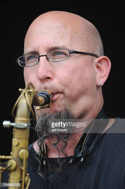 Jeff Coffin of Jeff Coffin Mu'tet performs during the final day of Dave Matthews Band Caravan at Lakeside on July 10 2011 in Chicago Illinois