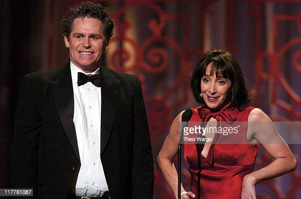 Jeff Conaway and Didi Conn presenters attend Moving Image Salutes John Travolta at the Waldorf Astoria Hotel in New York City on Sunday November 5...
