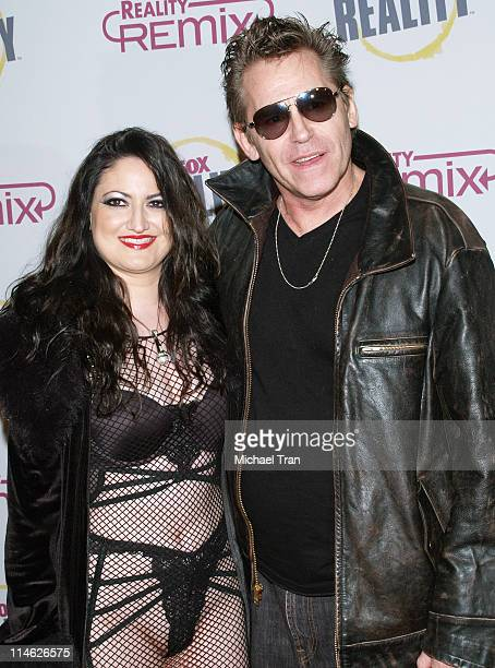 Jeff Conaway and Vikki Lizzi during Fox Reality Presents The Reality Remix Really Awards Arrivals at Les Deux in Hollywood California United States