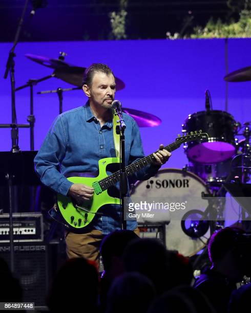 Jeff Cook of Alabama performs in concert during the 'Deep From The Heart One America Appeal Concert' at Reed Arena on October 21 2017 in College...