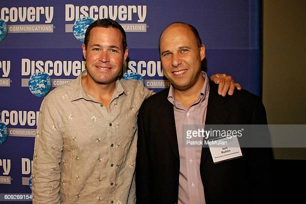 Jeff Corwin and Jon Rubin attend SHARK WEEK 20th ANNIVERSARY CELEBRATION at Pier Sixty at Chelsea Piers on July 18 2007 in New York City