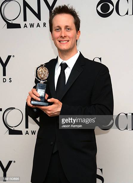 Jeff Croiter winner for the Best Lighting Design of a Play for Peter and the Starcatcher poses in the 66th Annual Tony Awards press room at The...