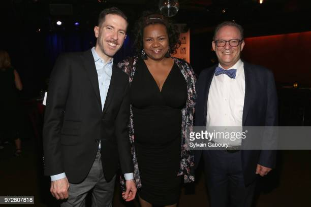 Jeff Cubeta Aisha de Haas and Alan Fuchsberg attend The Single Parent Resource Center's Spring Celebration at Laurie Beechman Theater on June 12 2018...
