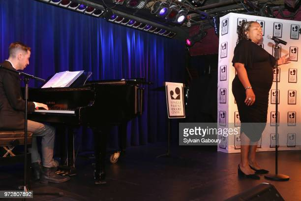 Jeff Cubeta and Aisha de Haas attend The Single Parent Resource Center's Spring Celebration at Laurie Beechman Theater on June 12 2018 in New York...