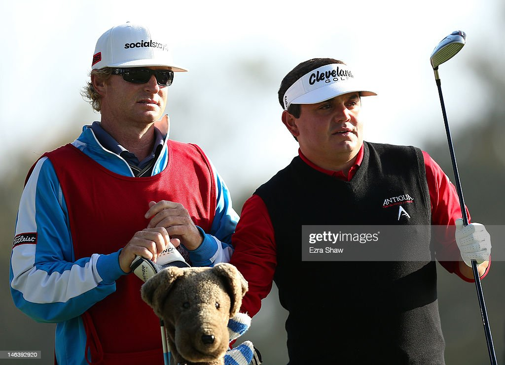 Jeff Curl of the United States waits with his caddie Kelly Miller during the second round of the 112th U.S. Open at The Olympic Club on June 15, 2012 in San Francisco, California.