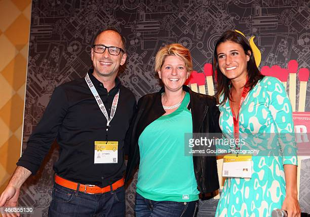 Jeff Dachis One Drop Founder and CEO CoFounder Razorfish Lucy Beard CEO Founder of Feetz and CNNMoney correspondent Laurie Segall attend the...