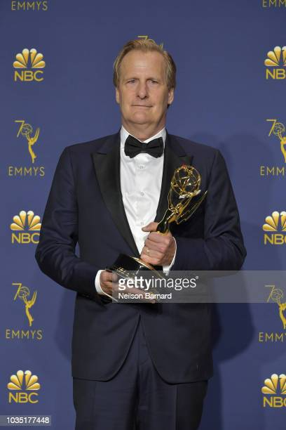 Jeff Daniels accepts the award for Outstanding Lead Actor in a Limited Series or Movie during the 70th Emmy Awards on September 17 2018 in Los...