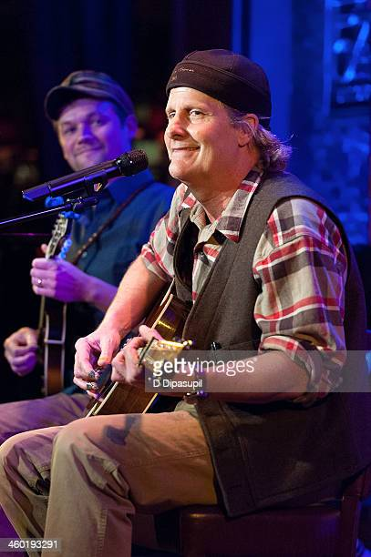 Jeff Daniels and Brad Phillips perform on stage during the Press Preview With Jeff Daniels at 54 Below on January 2, 2014 in New York City.