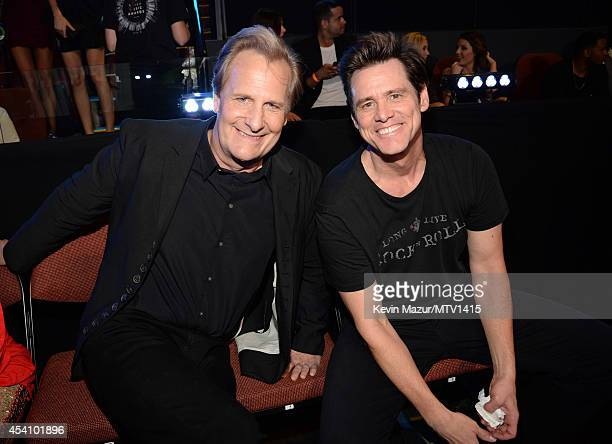 Jeff Daniels and Jim Carrey attend the 2014 MTV Video Music Awards at The Forum on August 24 2014 in Inglewood California