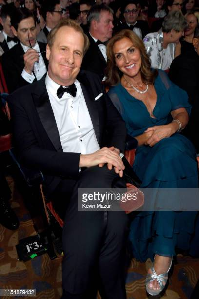Jeff Daniels and Kathleen Rosemary Treado attend the 73rd Annual Tony Awards at Radio City Music Hall on June 9 2019 in New York City