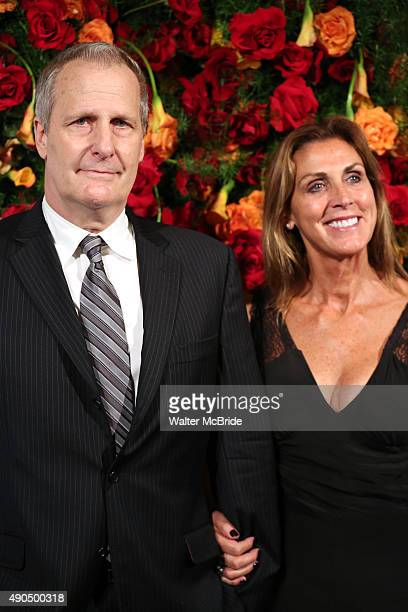 Jeff Daniels and Kathleen Treado attend the American Theatre Wing honors James Earl Jones at the Plaza Hotel on September 28 2015 in New York City