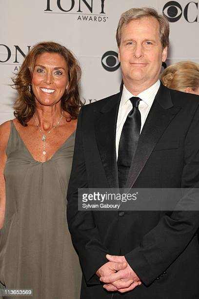Jeff Daniels and Kathleen Treado during 61st Annual Tony Awards Arrivals at Radio City Music Hall in New York City New York United States