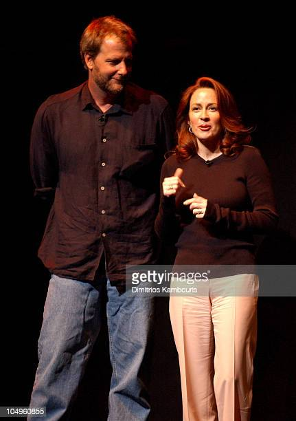 Jeff Daniels and Patricia Heaton during 2003/2004 TNT/TBS Superstation UPFront Event at Cipriani 42nd Street in New York City New York United States