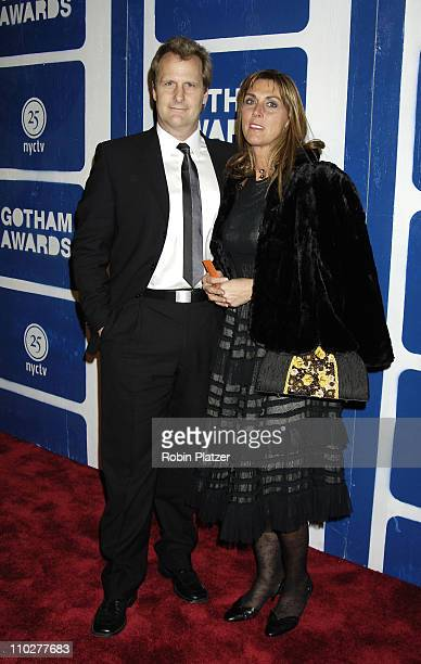 Jeff Daniels and wife Kathleen during IFP's 15th Annual Gotham Awards at Pier Sixty at Chelsea Piers in New York City New York United States