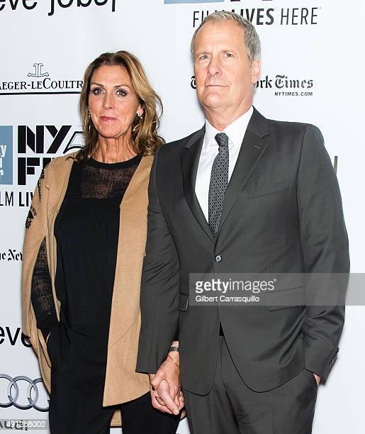 Jeff Daniels and wife Kathleen Rosemary Treado attend the 53rd New York Film Festival 'Steve Jobs' at Alice Tully Hall Lincoln Center on October 3...