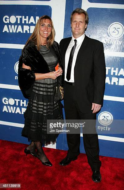 Jeff Daniels and wife Kathleen Treado during IFP's 15th Annual Gotham Awards Arrivals at Pier 60 at Chelsea Piers in New York City New York United...