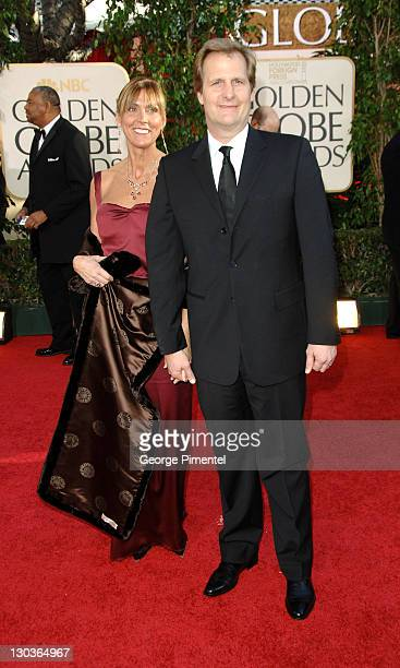 Jeff Daniels and wife Kathleen Treado during The 63rd Annual Golden Globe Awards Arrivals at Beverly Hilton Hotel in Beverly Hills California United...