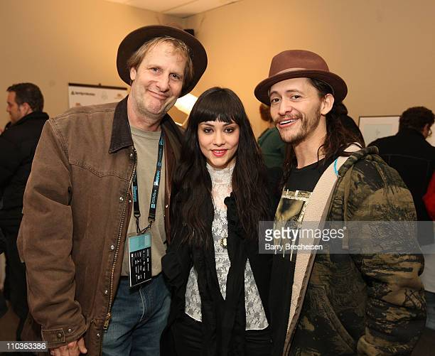 Jeff Daniels Diana Garcia and Clifton Collins Jr visits the Kari Feinstein Sundance Style Lounge on January 18 2009 in Park City Utah