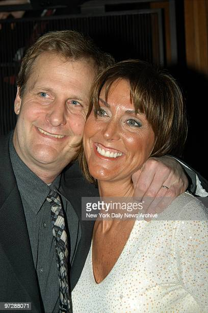 Jeff Daniels does a closeup with wife Kathleen at a party at the Four Seasons after a screening of the TV movie The Goodbye Girl He stars in the flick
