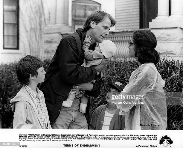 Jeff Daniels is confronted by Debra Winger in a scene from the Paramount Pictures movie Terms of Endearment circa 1983