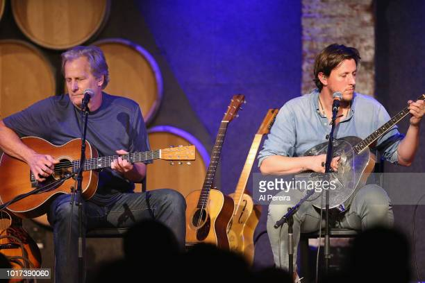 Jeff Daniels performs with his son Ben Daniels and the Ben Daniels Band at City Winery on August 15 2018 in New York City