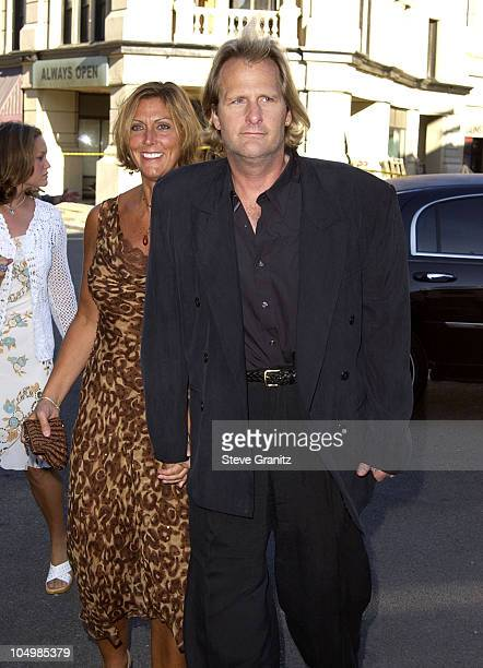 Jeff Daniels wife during Blood Work Premiere at Steven J Ross Theater in Burbank California United States