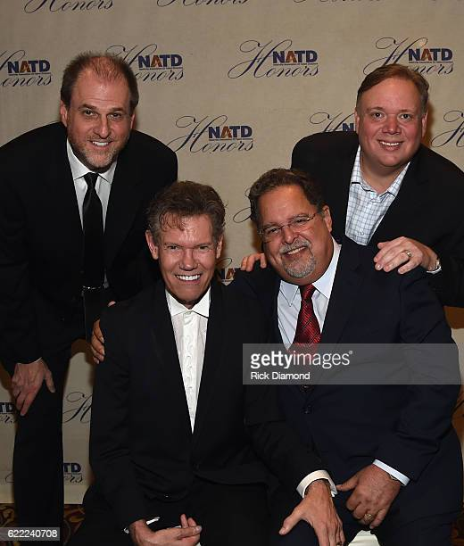 Jeff Davis Kirt Webster Honoree Randy Travis and Tony Conway attend the 2016 NATD Honors Gala at Hermitage Hotel on November 9 2016 in Nashville...