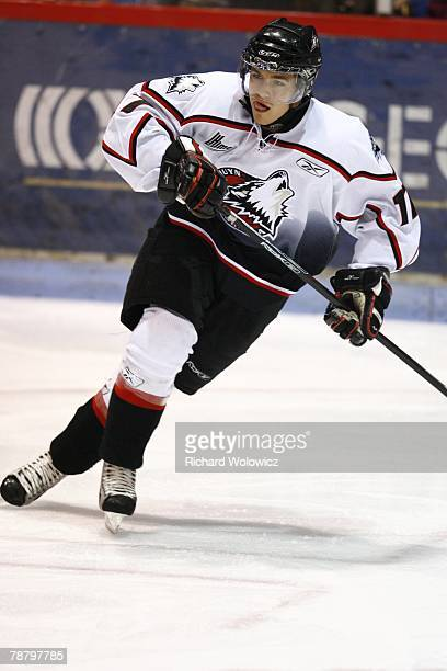 Jeff Desjardins of the Rouyn-Noranda Huskies skates during the game against the Drummondville Voltigeurs at the Centre Marcel Dionne on January 04,...