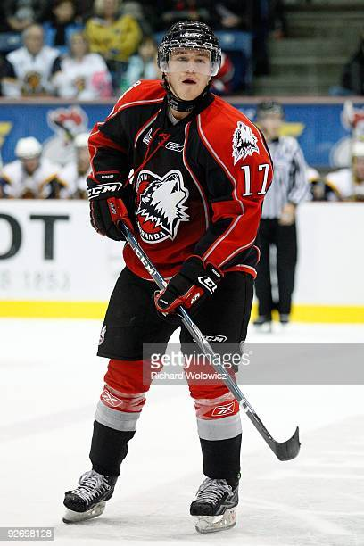 Jeff Desjardins of the Rouyn-Noranda Huskies skates during the game against the Shawinigan Cataractes at the Bionest Centre on October 29, 2009 in...