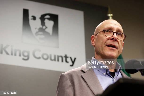Jeff Duchin Health Officer Public Health for Seattle and King County speaks following the death of a a King County Washington resident due to novel...