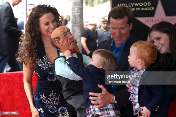 Jeff Dunham and family attend a ceremony honoring Jeff Dunham with a Star On The Hollywood Walk Of Fame on September 21 2017 in Hollywood California