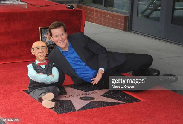 Jeff Dunham posing with his puppet Walter is honored with a star on The Hollywood Walk of Fame held on September 21 2017 in Hollywood California