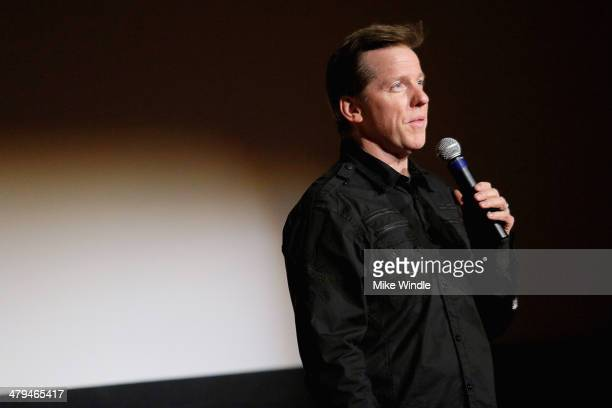 Jeff Dunham speaks onstage during the 'Achmed Saves America' World Premiere at The Grove on March 18 2014 in Los Angeles California