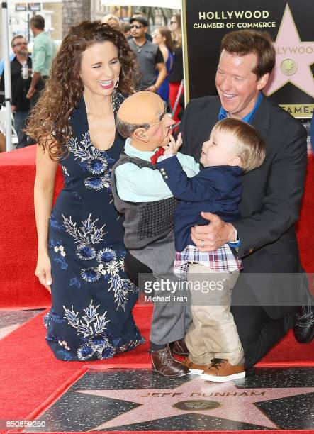 Jeff Dunham with his puppet 'Walter' and his family at the ceremony honoring him with a Star on The Hollywood Walk of Fame held on September 21 2017...