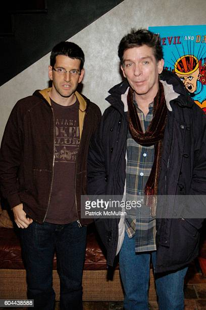 Jeff Feuerzeig and Kurt Loder attend THE DEVIL AND DANIEL JOHNSTON Screening at Tribeca Grand Hotel Screening Room on March 15 2006 in New York City