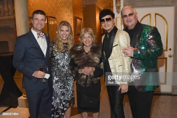 Jeff Fincher Tracie Hamilton of J/P HRO Judy Simmons hosts Newman Arndt and Johnathon Arndt attend Nashville Shines for Haiti benefitting Sean Penn's...