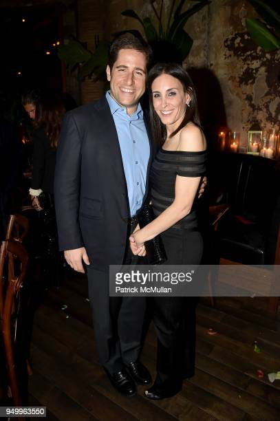 Jeff Fine and Karen Fine attend Billy Macklowe's 50th Birthday Spectacular at Chinese Tuxedo on April 21 2018 in New York City