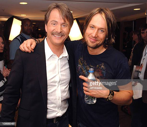Jeff Foxworthy and Keith Urban during 2006 CMT Music Awards Backstage and Audience at Curb Events Center at Belmont University in Nashville Tennessee...