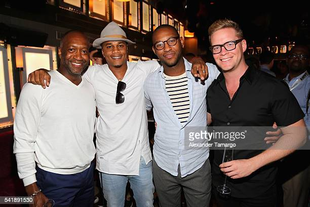 Jeff Friday Cory Hardrict Jelani Johnson and Matt Martin attend the CAA Reception in Celebration of ABFF with Will Packer at The Betsy Hotel on June...