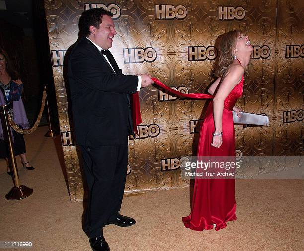 Jeff Garlin and Cheryl Hines during HBO 2006 Golden Globes After Party Arrivals at Beverly Hills Hilton in Beverly Hills California United States