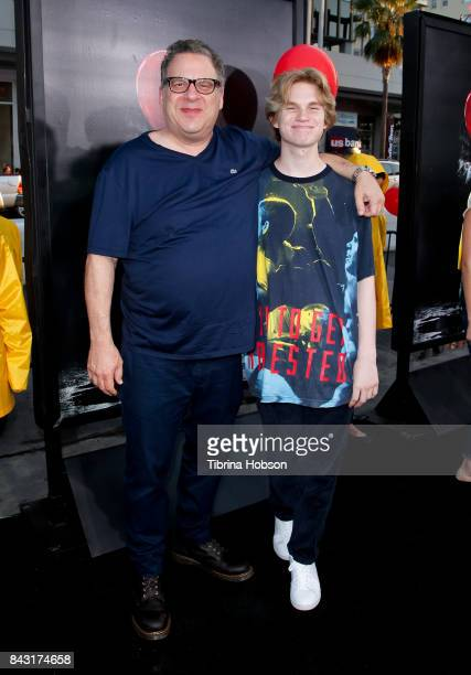 Jeff Garlin and Duke Garlin attend the premiere of 'It' at TCL Chinese Theatre on September 5 2017 in Hollywood California