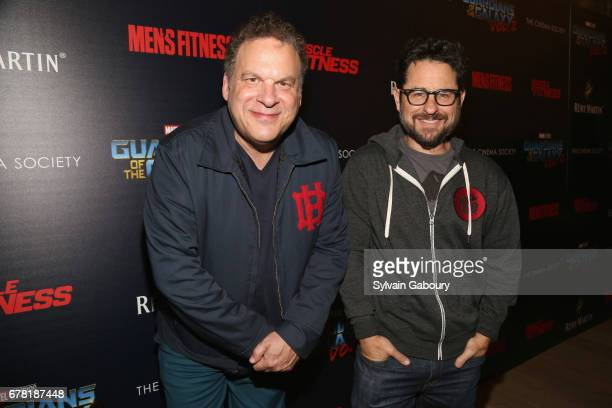 Jeff Garlin and JJ Abrams attend The Cinema Society with Men's Fitness Muscle Fitness and Remy Martin host a screening of Marvel Studios' Guardians...