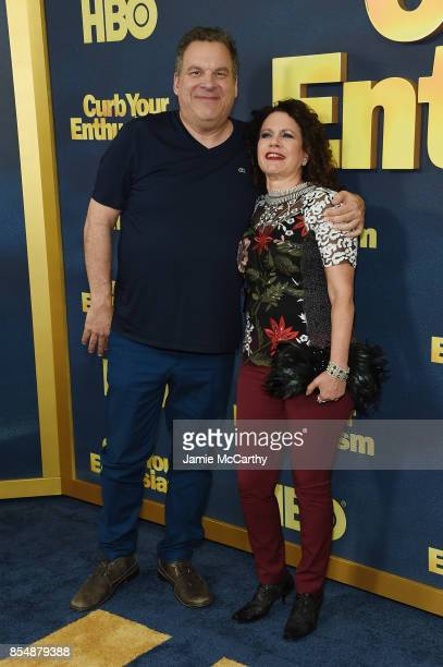 Jeff Garlin and Susie Essman attend the Curb Your Enthusiasm season 9 premiere at SVA Theater on September 27 2017 in New York City