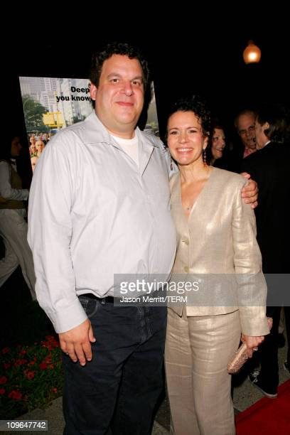 Jeff Garlin and Susie Essman during Curb Your Enthusiasm Season 5 Premiere Screening Red Carpet at Paramount Theater at Paramount Pictures Lot in...
